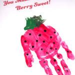 Strawberry Handprint Art – Berry Sweet Free Printable