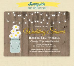 barn wood & lights shower invitation