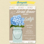 Hydrangeas Bridal or Baby Shower