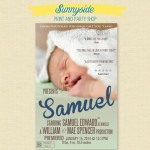 Movie Poster Baby Birth Announcements