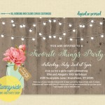 A favorite things party invitation