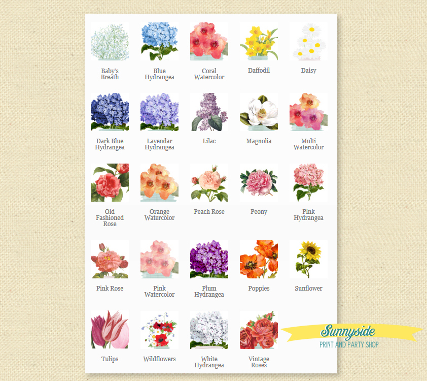 flower choices for garden invitations