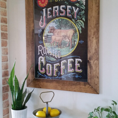 easy rustic wood frame