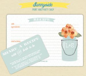recipe cards with bring a recipe enclosure