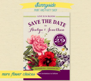 wildflower save the date