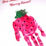 Strawberry Handprint Art – Free Printable