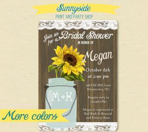 woodgrain bridal shower invitation